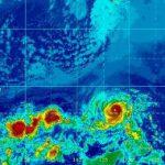 木曜〜今週末にかけて、ハワイに2つのハリケーンが接近しています。ハワイ渡航される方は厳重注意をお願いします。