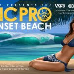 ハワイ・ノースショア・サンセットビーチにて VANS PRESENTS THE HIC pro sunset /HAWAII 開催中です。