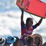 《鈴木彩加  GONAMINORI インタビュー》国内最大のサーフフェスムラサキスポーツ湘南オープン2015 苦労で捥ぎ取った優勝