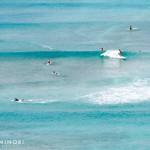 ロングボード天国ワイキキビーチ沖の「クイーンズポイント」