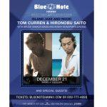 ブルーノートハワイでトム・カレンのライブ 「ISLAND JAZZ & ROCK」が12/21日に開催!